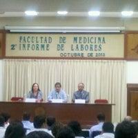 Photo taken at Auditorio Facultad de Medicina by Elisa N. on 10/22/2013