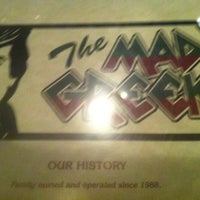 Photo taken at Mad Greek Restaurant by Hannah on 10/28/2012