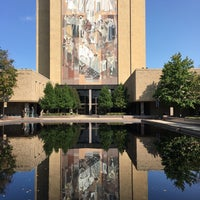 Photo taken at Hesburgh Library by Joel S. on 9/15/2017