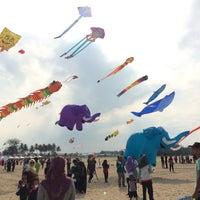 Photo taken at Pantai geting by Liyana I. on 8/26/2017