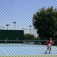 Photo taken at Tenis Kortları by Esra H. on 7/15/2016