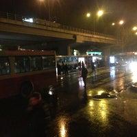 Photo taken at Bornova Metro Otobüs Durağı by Umut B. on 2/11/2013