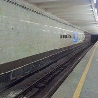 Снимок сделан в Станция метро «Немига» пользователем Sergey P. 12/23/2012