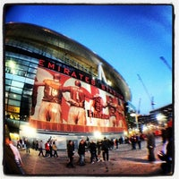 Photo taken at Emirates Stadium by Female Body Inspector (FBI) on 1/13/2013