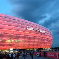 Photo taken at Allianz Arena by Javier on 9/25/2013
