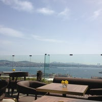 Photo taken at Georges Hotel Roof Terrace by Zeynep on 4/5/2013