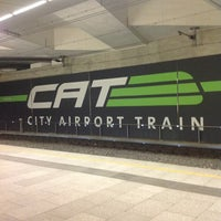 Photo taken at CAT Station Landstraße - Wien Mitte by Jeroen J. on 10/27/2012