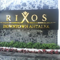 Photo taken at Rixos Downtown Antalya by Lewen+ S. on 4/25/2013