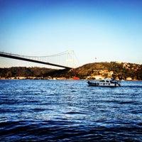 Photo taken at Rumelihisarı Sahili by Aysun C. on 10/8/2012