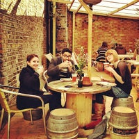 Photo taken at London Fields Brewery by San S. on 10/13/2012