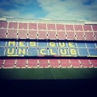 Photo taken at Camp Nou by Patrick B. on 5/9/2013