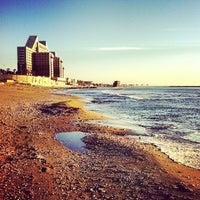 Photo taken at Leonardo Beach by Lucy on 2/4/2013