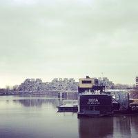 Photo taken at Bota Bota, spa-sur-l'eau by Esben on 4/13/2013