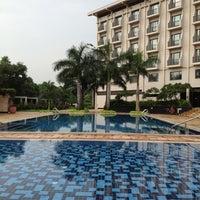 Photo taken at Radisson Blu Water Garden Hotel by Leyla G. on 10/14/2012