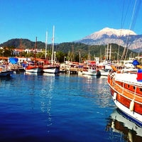 Photo taken at Kemer Türkiz Marina by SEMRA🌸🍃 on 4/25/2013