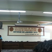 "Photo taken at Auditorio ""Raymundo Moreno"" (Facultad de Ingeniería Civil) by Luis Carlo G. on 10/28/2013"
