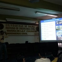 "Photo taken at Auditorio ""Raymundo Moreno"" (Facultad de Ingeniería Civil) by Luis Carlo G. on 5/9/2014"