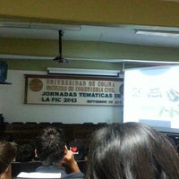 "Photo taken at Auditorio ""Raymundo Moreno"" (Facultad de Ingeniería Civil) by Luis Carlo G. on 9/19/2013"