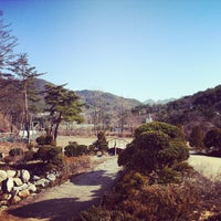 Photo taken at 속리산조각공원 by Miso S. on 3/9/2013