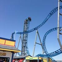 Photo taken at Iron Shark Rollercoaster by Ava on 3/24/2013