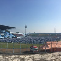 Photo taken at Stadion Kanjuruhan by Agus P. on 5/23/2017