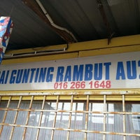 Photo taken at Kedai Gunting Rambut by BaRt L. on 9/1/2013