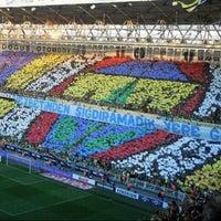 Photo taken at Ülker Stadyumu Fenerbahçe Şükrü Saracoğlu Spor Kompleksi by Zeynep C. on 10/24/2013