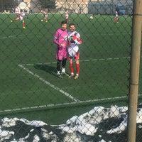 Photo taken at Abdurrahman Temel Futbol Sahası by Zeynep Y. on 2/4/2017