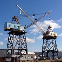 Photo taken at Brooklyn Navy Yard by Neil on 2/4/2013