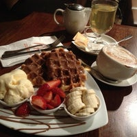 Photo taken at Max Brenner Chocolate Bar by Zebby A. on 2/28/2013