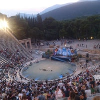 Photo taken at Epidaurus Ancient Theatre by Ioanna P. on 7/26/2013