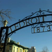 Photo taken at Ledroit Park Gate by Ben R. on 1/5/2013