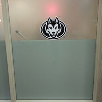 Photo taken at Husky Bookstore by Karin L. on 7/15/2014