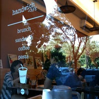 Photo taken at handwich + CAFE 漢明治 by christine on 10/13/2012