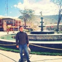 Photo taken at Plaza de Armas de Chivay by David L. on 6/9/2015