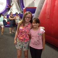 Photo taken at Bounce U by Michelle F. on 7/12/2013
