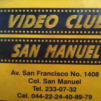Photo taken at Video Club San Manuel by Angel T. on 4/27/2013