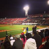 Photo taken at Estadio Gasmart by Ale on 4/25/2013