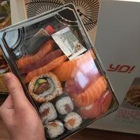Photo taken at YO! Sushi by Katy on 12/27/2016