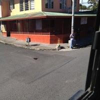 Photo taken at Parada de Buses, Santa Ana Centro by Orlando O. on 12/26/2012