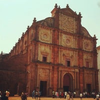 Photo taken at Basilica of Bom Jesus by Sneha F. on 5/24/2013