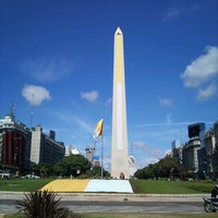 Photo taken at Obelisco - Plaza de la República by Иван Д. on 3/19/2013