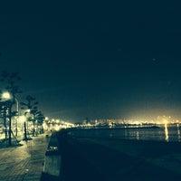 Photo taken at 송도해수욕장 by Lybee B. on 8/24/2014