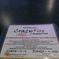 Photo taken at CrazyFire Mongolian Grill by Yolanda L. on 11/10/2012