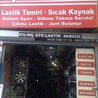 Photo taken at kınıç oto lastik ve tamir by Olgun.y on 7/26/2014