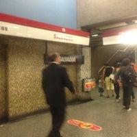 Photo taken at Metro Salvador by Pamela F. on 2/18/2013