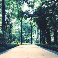 Photo taken at Taman Flora by Adismara P. on 3/3/2014