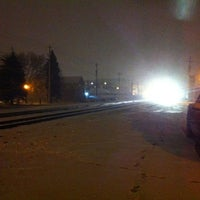 Photo taken at Railroad station park by Tyler P. on 1/10/2013