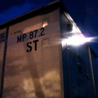 Photo taken at Railroad station park by Tyler P. on 1/17/2013