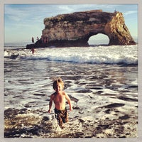 Photo taken at Natural Bridges State Beach by andrew c. on 1/19/2013